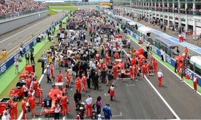 GP de Francia:Dominio total de Ferrari